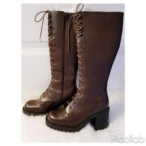 VS Colin Stewart Leather Lace Up Boots
